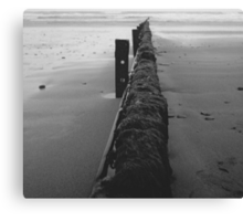 Barriers of the sea Canvas Print