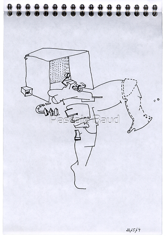 Petits Dessins Debiles - Small Weak Drawings#06 by Pascale Baud