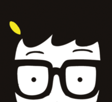 Tina Belcher - Turn down for butts Sticker