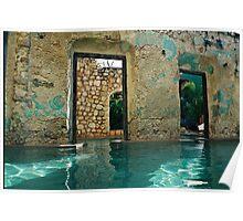 doors in the swimmingpool Poster