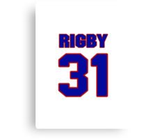 National baseball player Brad Rigby jersey 31 Canvas Print