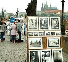 Charles Bridge in Prague by Jackie Wilson