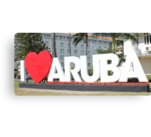 I love Aruba - One happy Island Canvas Print
