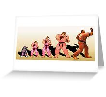 The Evolution of Dan, Street Fighter Greeting Card