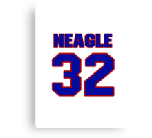 National baseball player Denny Neagle jersey 32 Canvas Print