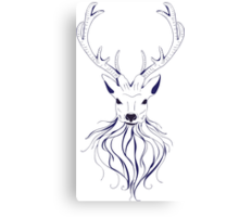 Head of a deer in hand drawn style 2 Canvas Print
