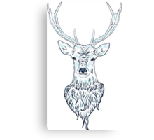 Head of a deer in hand drawn style 3 Canvas Print
