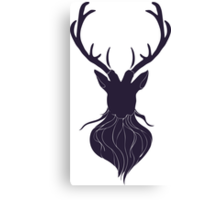 Head of a deer in hand drawn style 5 Canvas Print