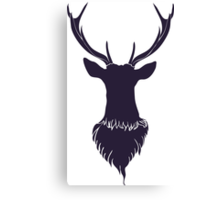 Head of a deer in hand drawn style 6 Canvas Print