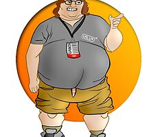 Gabe Newell Art by Solbessx