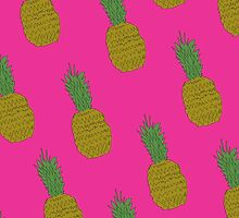 Pineapple Background by Emily Lanier