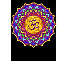 7th Chakra Mandala Yoga Om Photographic Print