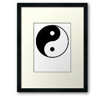 Yin Yang Symbol Framed Print