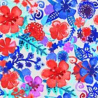 Fresh Watercolor Floral Pattern II by Tangerine-Tane