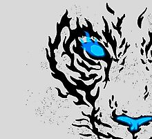 Blue Flame Tiger by HolyDiver9000