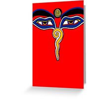 Buddha Eyes Symbol Greeting Card