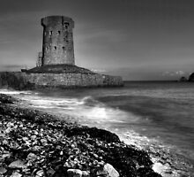 La Hocq Tower B & W by Mark Bowden