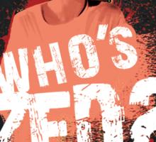 Who's ZED? - Pulp Fiction Sticker