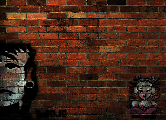 Faces on a Wall by Luke Haggis
