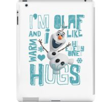 Hi everyone! I'm Olaf iPad Case/Skin