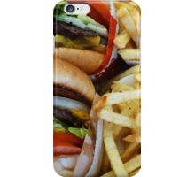 All American Cheeseburgers And Fries iPhone Case/Skin
