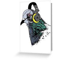 Techno Pigeon v2 Greeting Card