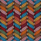 Seamless pattern with stylize sweater fabric in colors. by Richard Laschon
