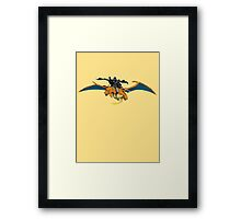 Darth Vader Riding Charizard Framed Print