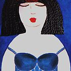 BLUE DRESS  by Mariaan Maritz Krog Fine Art Portfolio