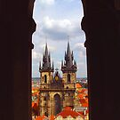 Prague Tyn Cathedral through arch by culturequest