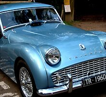 Triumph TR3A Blue by Tom Newman