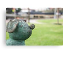 Bronze Toy Dog Canvas Print