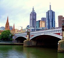 Princes Bridge Melbourne by Tom Newman