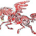 red pegasus by Christiane C. Wolff
