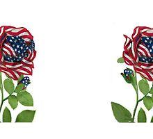 .♥➷♥•* Stars & Stripes Designed Rose Mug .♥➷♥•*¨ by ✿✿ Bonita ✿✿ ђєℓℓσ