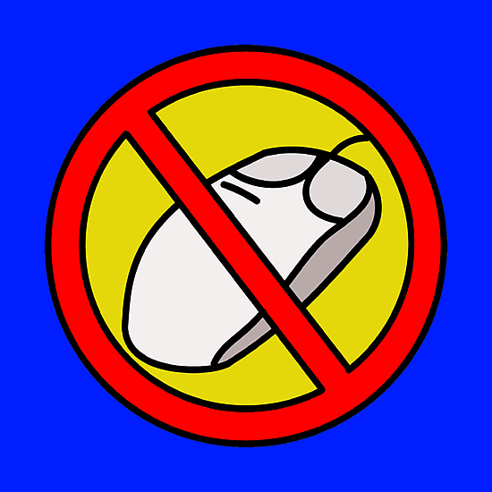 NO COMPUTER MOUSE TRAFFIC SIGN  by SofiaYoushi