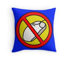 NO COMPUTER MOUSE TRAFFIC SIGN  Throw Pillow