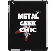 Metal Geek Chic-Devices, etc. White Letters iPad Case/Skin