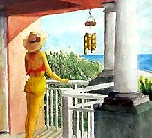 View Off The Balcony by Jim Phillips
