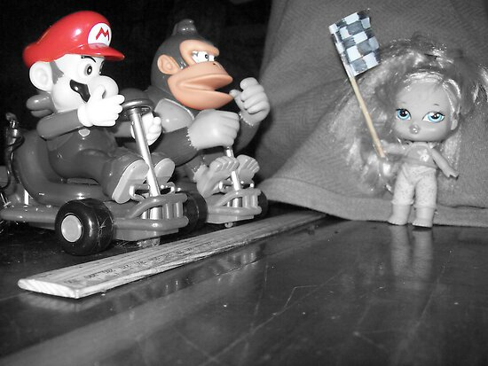 Mario, Donkey Kong!, and Barbie? by footyman
