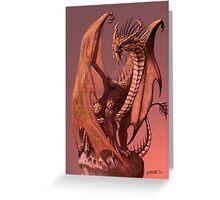 Copper Dragon Greeting Card