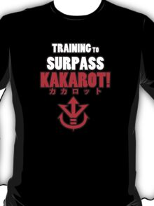 Vegeta - Training to Surpass Kakarot! (Red) T-Shirt