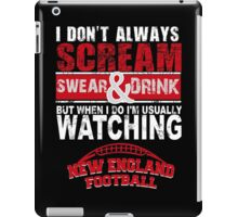 New England Football Fan Tshirts & Hoodies! iPad Case/Skin