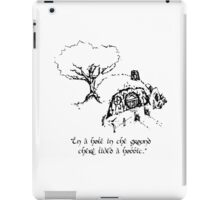 """In a hole in the ground there lived a hobbit."" iPad Case/Skin"