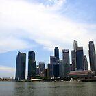 Singapore skyline by BengLim