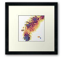 GEOMETRICAL FIRE Framed Print