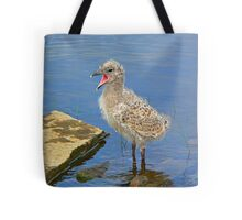 Chick Looking for Mum (Baby Seagull) Tote Bag