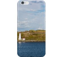 White Lighthouse on Green and Blue iPhone Case/Skin