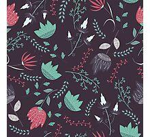 Fantasy flowers pattern Photographic Print