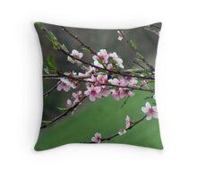 peach blooms Throw Pillow